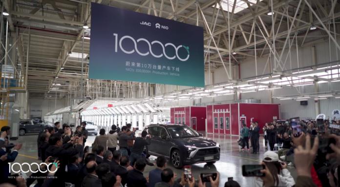 NIO da record, 100.0000 Auto elettriche Made in Cina