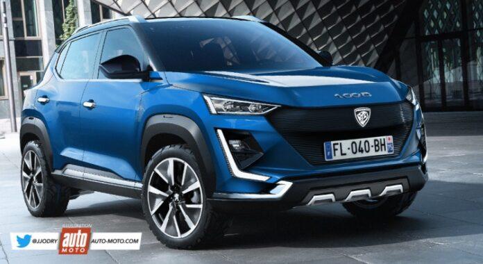 Nuova Peugeot 1008 2023, Anteprima Rendering