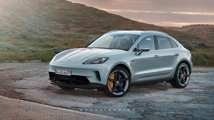 Nuova Porsche Macan 2021, il Rendering Elettrico
