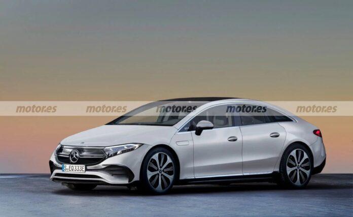 Nuova Mercedes-Benz EQE 2023, Berlina elettrica in Rendering