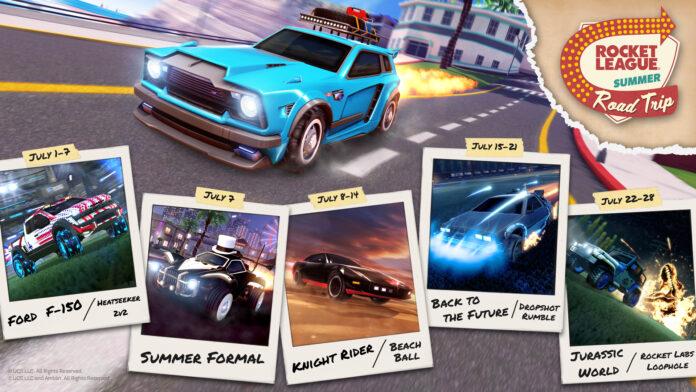 Rocket League arrivano le auto originali con il Summer Road Trip