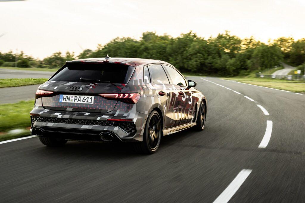 Nuova Audi RS3 2023, Dati tecnici in Anteprima
