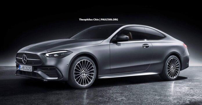 Nuova Mercedes-Benz Classe C 2022, il Rendering di coupé e cabrio