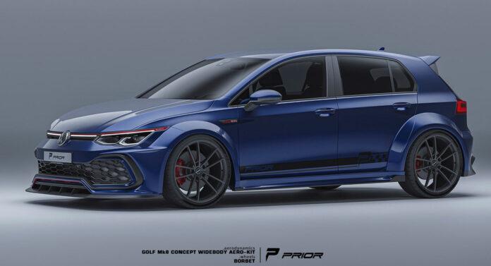 Nuova Volkswagen Golf 8 GTI 2022, il Bodykit firmato Prior