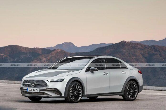 Nuova Mercedes-Benz Cla All Terrain 2024, il Rendering del SUL