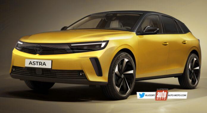Nuova Opel Astra 2022, il Rendering definitivo