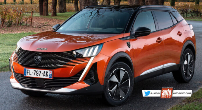 Nuova Peugeot 2008 2022, il Restyling in Rendering